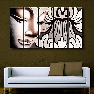 Отпечатки на холсте Религия 5 панелей Вертикальная С картинкой Декор стены Украшение дома