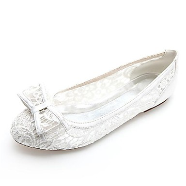 Dame - Pantofi de nunta - Vârf Rotund - Pantofi Fără Toc - Nuntă / Party & Seară - Negru / Roz / Fildeș / Alb