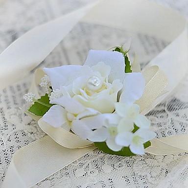 Hochzeitsblumen Armbandblume Einzigartiges Hochzeits-Dekor Besondere Anlässe Party / Abend Satin 3 cm ca.