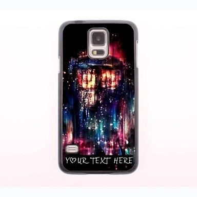 cazul în care telefonul personalizate - proiectare roșu de foc carcasa de metal pentru i9600 Samsung Galaxy s5