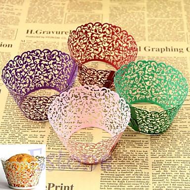 Kreisförmig Quadratisch Zylinder Perlenpapier Geschenke Halter mit Print Geschenkboxen Kuchenverpackung und Boxen