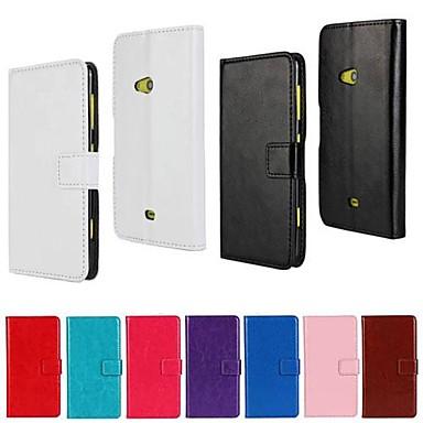 Etui Til Nokia Lumia 625 Nokia Etui Nokia Kortholder Lommebok med stativ Heldekkende etui Helfarge Hard PU Leather til