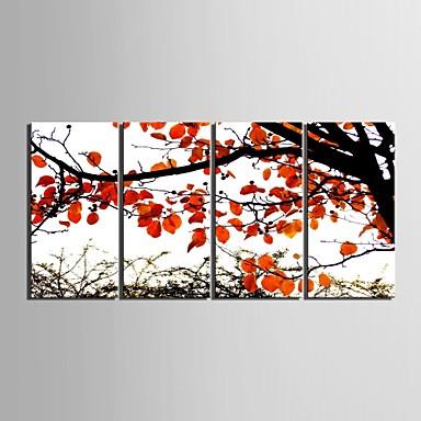 Romantiek Botanisch Vier panelen Verticaal Print Muurdecoratie Huisdecoratie