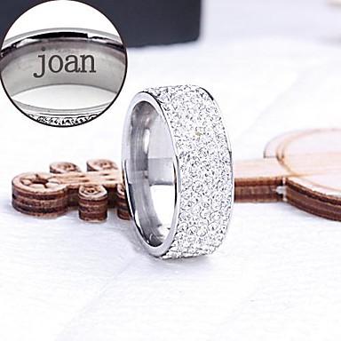 gepersonaliseerde gift ring roestvrij staal gegraveerd sieraden