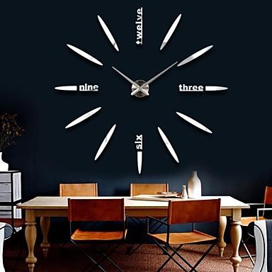 天 普 创意 时尚 个性 3d 立体 diy 装饰 挂钟 12s012