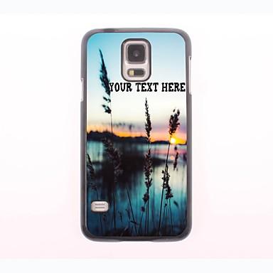 cazul în care telefonul personalizate - iarbă și de proiectare carcasa de metal mare pentru Samsung Galaxy mini s5