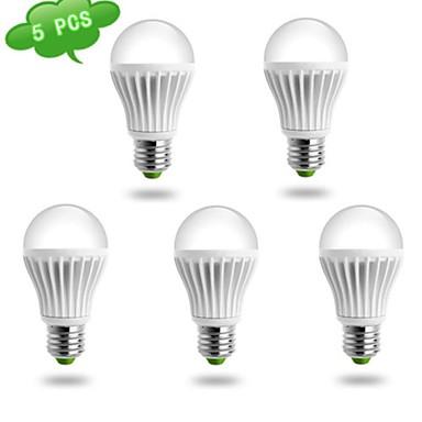 5 шт. DUXLITE E26/E27 10W 1 COB 980 LM Холодный белый A60(A19) Круглые LED лампы AC 85-265 V