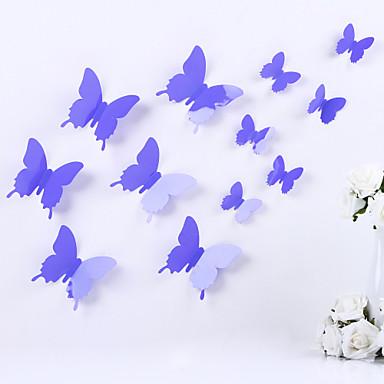 Dieren Romantiek 3D Wall Stickers 3D Muurstickers Decoratieve Muurstickers Koelkaststickers,Vinyl Materiaal Verwijderbaar Verstelbaar