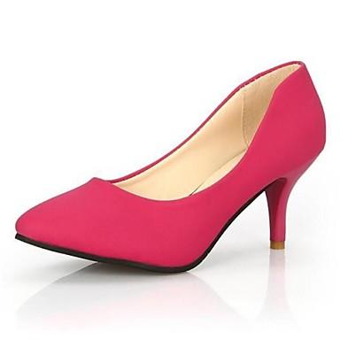 Черный / Розовый - Женская обувь - Для праздника / Для вечеринки / ужина - Дерматин - На шпильке - На каблуках / С острым носком -Обувь