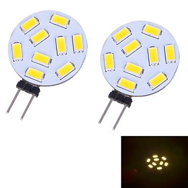 3W G4 LED Bi-pin 조명 9 SMD 5730 350 lm 따뜻한 화이트 / 차가운 화이트 DC 12 V