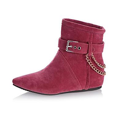 Для женщин Обувь Осень Зима На плоской подошве Ботинки Цепочки Назначение Для праздника Черный Красный Бежевый Зеленый