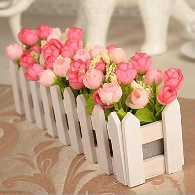 1 Podružnica Polyester Roses Cvjeće za stol Umjetna Cvijeće