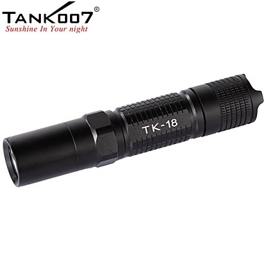 Tank007 TK18   R5 LED Taschenlampen / Hand Taschenlampen LED 320lm 5 Beleuchtungsmodus Stoßfest / rutschfester Griff / Wiederaufladbar