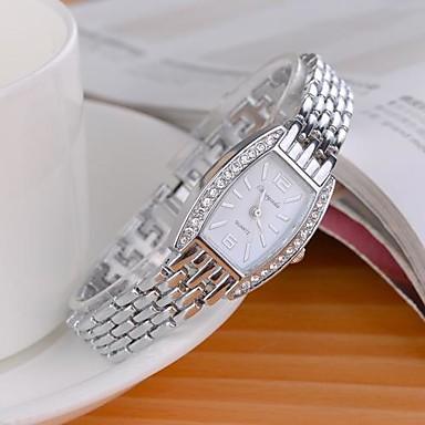 Pentru femei Ceas La Modă Simulat Diamant Ceas Quartz imitație de diamant Aliaj Bandă Sclipici Argint