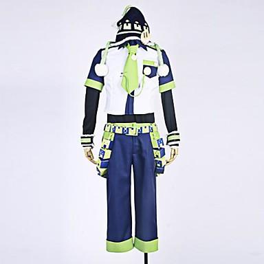 Inspiré par Dramatical Murder Noiz Manga Costumes de Cosplay Costumes Cosplay Mosaïque Chemise Pantalon Manche Accessoires de taille