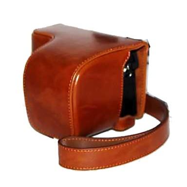 dengpin® PU aparat de fotografiat ulei de piele din piele caz sac acopere cu curea de umăr pentru Sony A6000 İlçe-6000l a6000l-6 nex