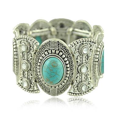 модный тибетский серебряные ювелирные изделия металла, резьба бирюзовый кристалл широкие браслеты& браслеты