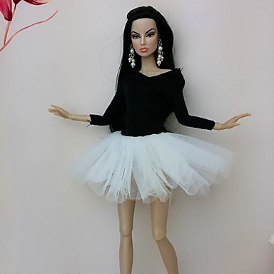 Fest/aften Kjoler Til Barbiedukke Blonde organza Kjole Til Jentas Dukke