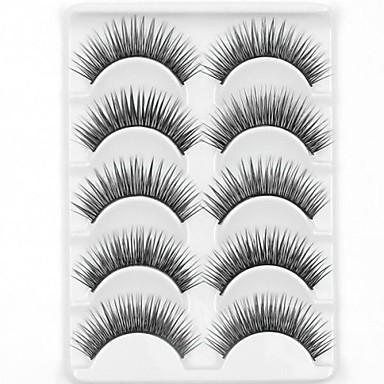 お買い得  クリアランス-まつ毛 メイキャップツール つけまつげ 10 pcs 濃密 ナチュラル 厚型 繊維 日常 厚型 ナチュラルロング - 化粧 デイリーメイク パーティーメイク 化粧品 お手入れグッズ