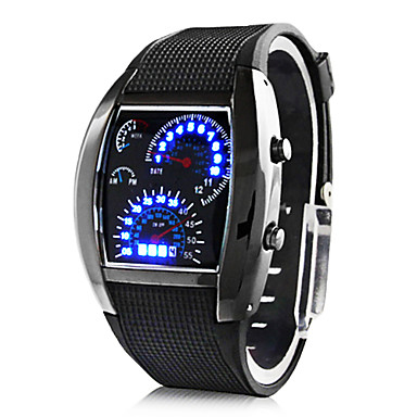 Személyre szabott ajándékot Férfi Watch , Digitális / LED Kvarc Watch With Ötvözet tok anyaga Gumi Zenekar Sportos óra Vízállóság Mélység