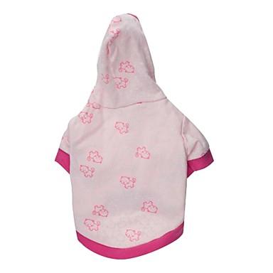 Кошка Собака Толстовки Одежда для собак Дышащий Мультфильмы Розовый Костюм Для домашних животных