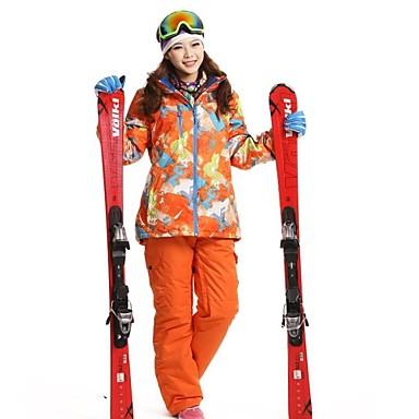 Női Planinarska jakna Vízálló Melegen tartani Szélbiztos Porbiztos Viselhető Légáteresztő 3 az 1-ben dzsekik Női kabát Téli kabát