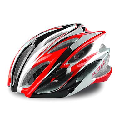 fjqxz 23 ventilatieopeningen eps + pc rood integraal gevormde fietshelm (58-63cm)