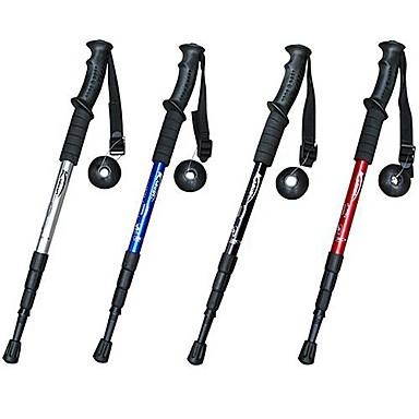 4 Secties Trektochtstokken Multi Functionele Wandelstokken 110cm (43 inch) Dempen Antislip Aanpasbare Lengte Aluminium 6061 Aluminium Wandelen Sneeuwsporten Langlauf