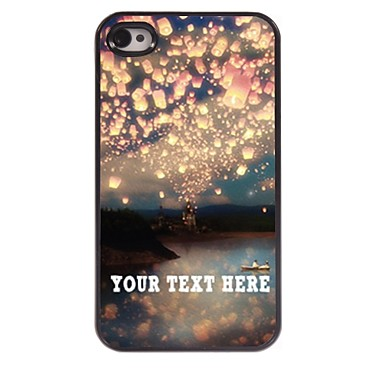 gepersonaliseerde telefoon case - romantiek ontwerp metalen behuizing voor de iPhone 4 / 4s