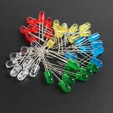 led5mm красные, зеленые, синие и желтые светодиоды 10 каждый, всего 50шт