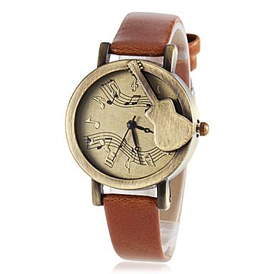 Жен. Модные часы Кварцевый PU Группа Винтаж Черный Коричневый Зеленый