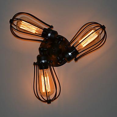 Rustic/Lodge Flush Mount wall Lights For Metal Wall Light 110-120V 220-240V MAX  60WW