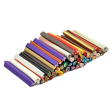 50pc sanimal модели 3d трость палка стержень наклейку смешивается Цвет Nail Art украшения