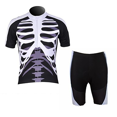 WOLFBIKE Men's Summer Mountain Bike Breathable Short Sleeve Cycling Suit