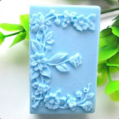 Square Love- E Shaped Flower Fondant Cake Chocolate Silicone Mold