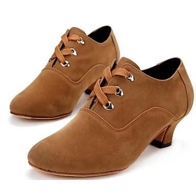 Women's Dance Shoes Modern Suede Low Heel