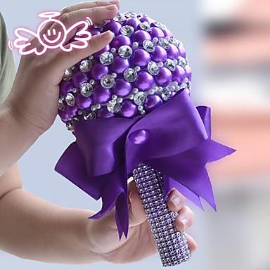 Hochzeitsblumen Sträuße Hochzeit Perlen Spitze Strass Polyester 26 cm ca.