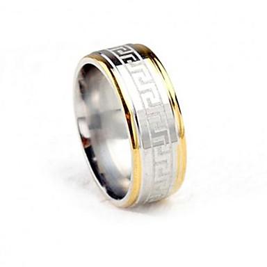 voordelige Dames Sieraden-Heren Bandring Goud / Zilver Titanium Staal Modieus Bruiloft Feest Sieraden Tweekleurig