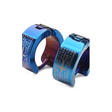 Kruis Ring oorbellen - Gepersonaliseerde Klassiek Modieus Blauw oorbellen Voor Kerstcadeaus Causaal