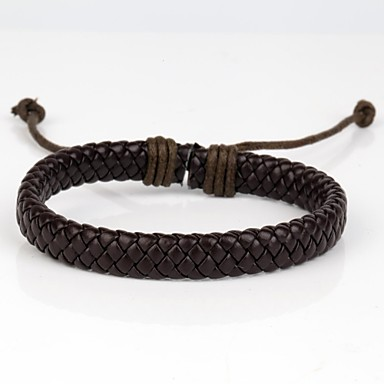 Leather Leather Bracelet Vintage Bracelet - Unique Design Fashion Others Brown Bracelet For Christmas Gifts Daily Casual Sports