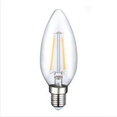 1pc 250 lm E12 LED Filament Bulbs C35 2 leds COB Decorative Warm White AC 110-130V