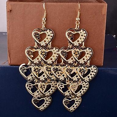 Druppel oorbellen Liefde Meerlaags Legering Hartvorm Sieraden Voor 2 stuks