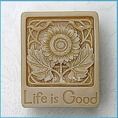 Life is Good Flower DIY Fondant Cake Chocolate Silicone Mold Cake Decoration Tools,L6.6cm*W5.2cm*H2.3cm
