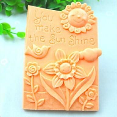 du gjør solen skinne fugl blomst  kake sjokolade silikon Form kake dekorasjon verktøy, l10.6cm * b8.1cm * h3cm