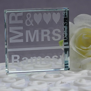 Cake Topper Crystal Wedding Anniversary With Gift Box Wedding Reception