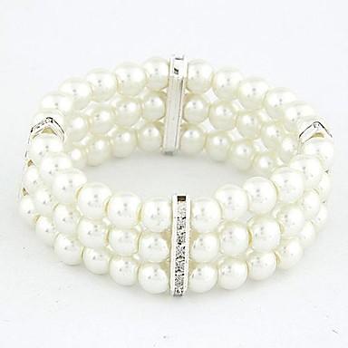 abordables Brazaletes-Mujer Blanco Hilo Legierung Pulsera pulsera Dorado / Plateado Para Regalos de Navidad Diario