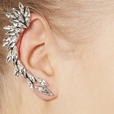 UK/_ Women Fashion Unique Mini Snake Shape Cuff Wrap Ear Clip Punk Earring Jewelr