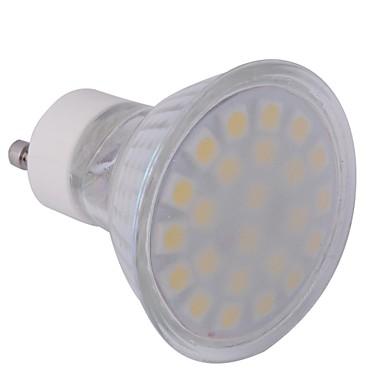 4W GU10 Точечное LED освещение MR16 24 SMD 5050 360 lm Тёплый белый AC 220-240 V