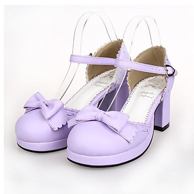 Lolita Shoes Sweet Lolita Lolita High Heel Shoes Bowknot 6.5 CM For PU Leather/Polyurethane Leather