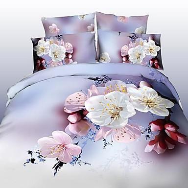 ensembles housse de couette 3d polyester imprim 4 pi cesbedding sets 400 1 pi ces 1 housse. Black Bedroom Furniture Sets. Home Design Ideas